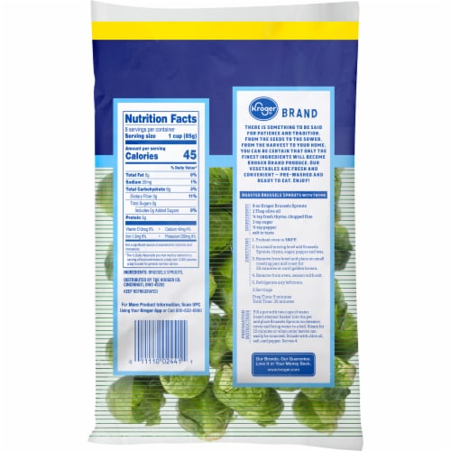 Kroger® Brussels Sprouts Perspective: back