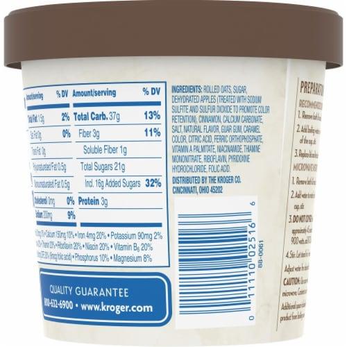 Kroger® Apple & Cinnamon Instant Oatmeal Perspective: back