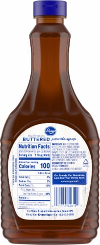 Kroger® Buttered Pancake Syrup Perspective: back