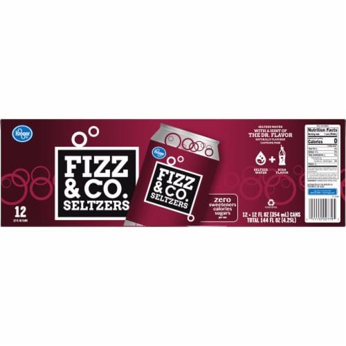 Kroger® Fizz & Co. The Dr. Flavored Seltzer Water Perspective: back