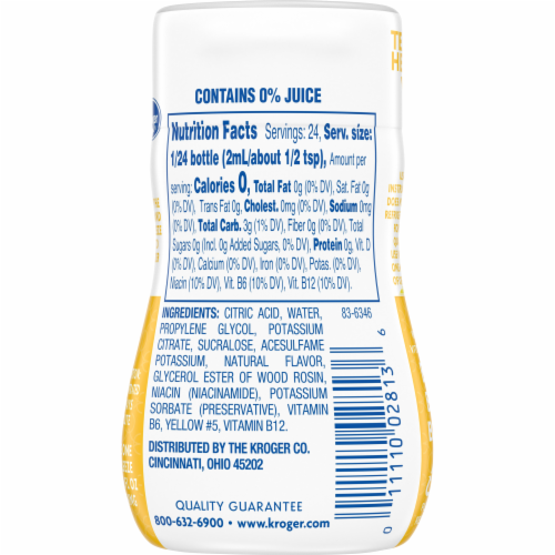 Kroger® Vitamin Lemonade Liquid Water Enhancer Perspective: back