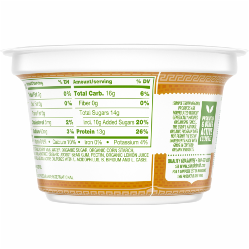 Simple Truth Organic™ Strained Vanilla Bean Greek Nonfat Yogurt Perspective: back