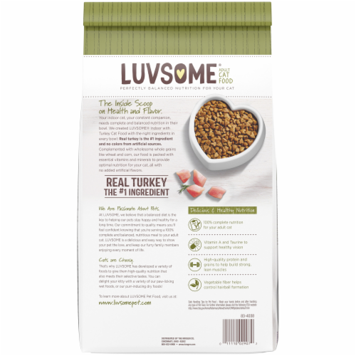 Luvsome® Indoor Turkey Adult Dry Cat Food Perspective: back