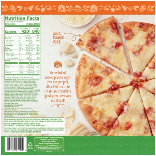 Simple Truth Organic® 4 Cheese Ultra-Thin Crust Pizza Perspective: back