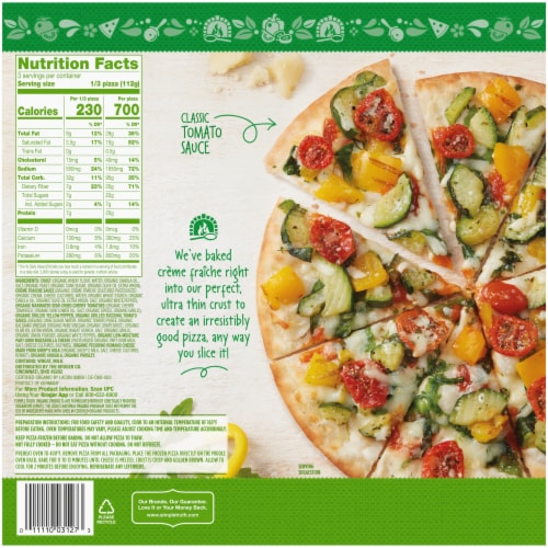 Simple Truth Organic® Italian Style Vegetable Pizza Perspective: back