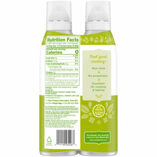 Simple Truth Organic® Extra Virgin Olive Oil Cooking Spray Twin Pack Perspective: back