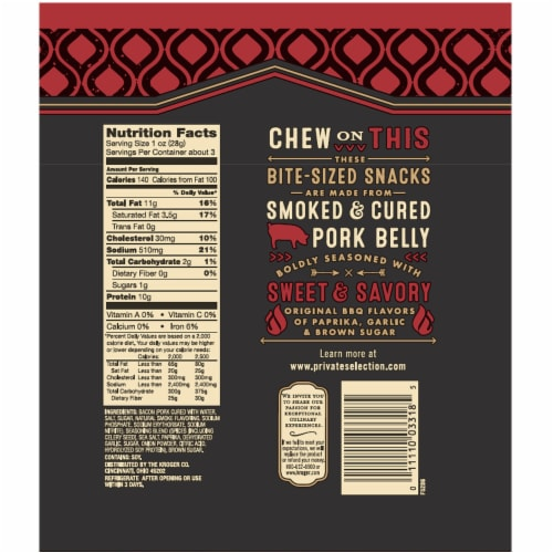 Private Selection™ Original BBQ Recipe Seasoned Pork Belly Bites Perspective: back