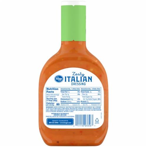 Kroger® Zesty Italian Salad Dressing Perspective: back