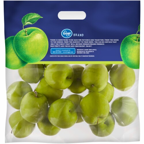 Kroger® Granny Smith Apples Bag Perspective: back