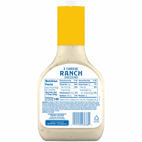Kroger® 3 Cheese Ranch Salad Dressing Perspective: back