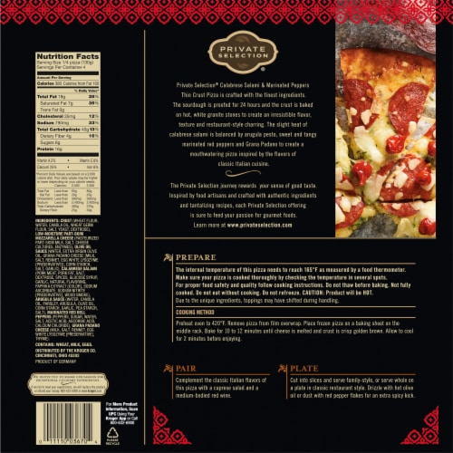 Private Selection® Calabrese Salami & Marinated Peppers Thin Crust Pizza Perspective: back