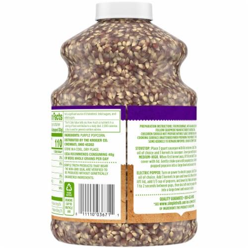Simple Truth™ 100% Whole Grain Purple Popcorn Perspective: back