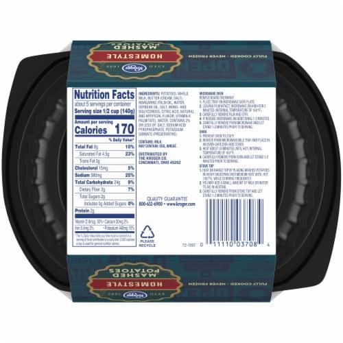 Kroger® Homestyle Mashed Potatoes Tub Perspective: back