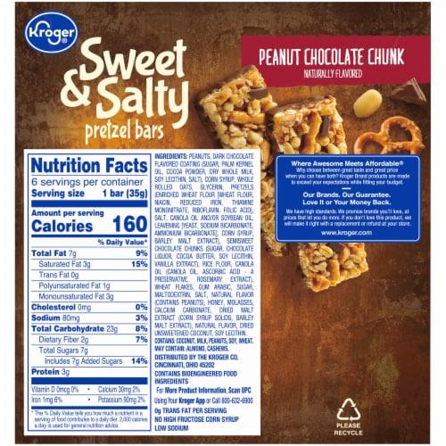 Kroger® Sweet & Salty Peanut Chocolate Chunk Pretzel Bars Perspective: back