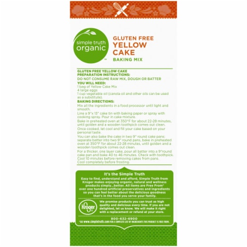 Simple Truth Organic™ Gluten Free Yellow Cake Baking Mix Perspective: back