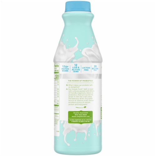Simple Truth™ Plain Cultured Lowfat Milk Kefir Perspective: back