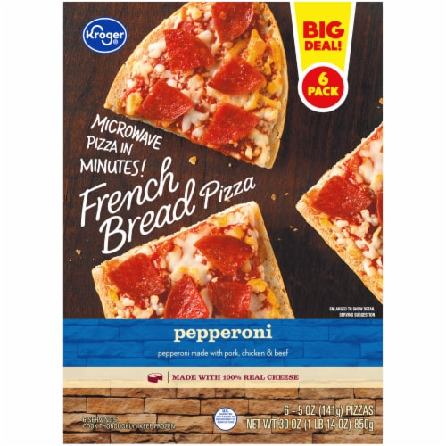 Kroger® Pepperoni French Bread Pizza Perspective: back