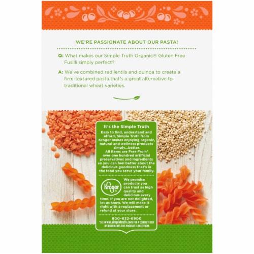 Simple Truth Organic® Gluten Free Red Lentil & Quinoa Fusilli Pasta Perspective: back