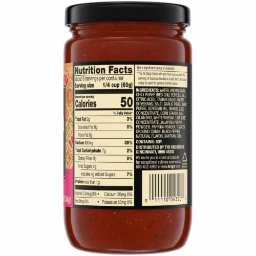 Private Selection® Carne Asada Cooking Sauce Perspective: back