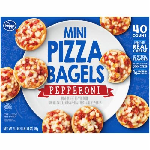 Kroger® Pepperoni Mini Pizza Bagels Perspective: back