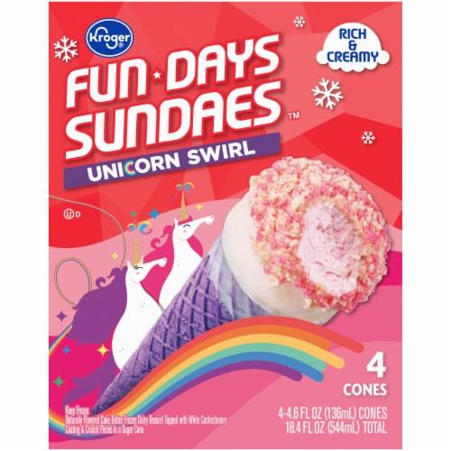 Kroger® Fun Days Sundaes™ Unicorn Swirl Sundae Cones Perspective: back