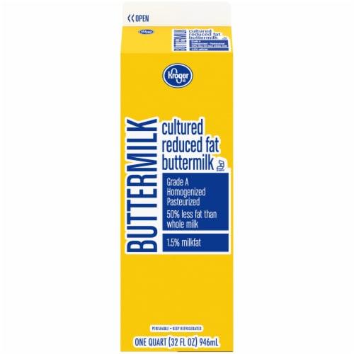 Kroger® Reduced Fat Buttermilk Perspective: back