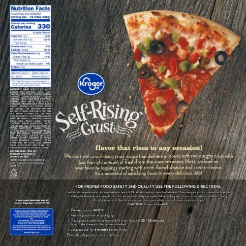 Kroger® Supreme Self-Rising Crust Frozen Pizza Perspective: back
