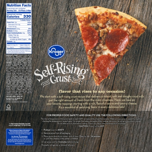 Kroger® Self-Rising Crust Three Meat Pizza Perspective: back