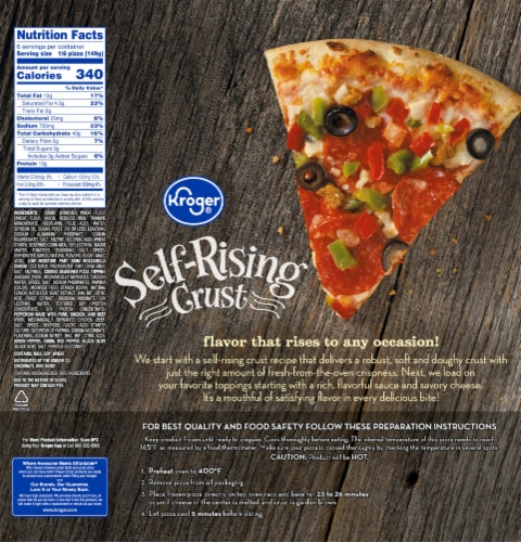 Kroger® Self-Rising Crust Pizzeria Style Supreme Pizza Perspective: back