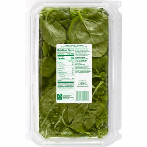 Simple Truth Organic® Baby Spinach and Kale Perspective: back