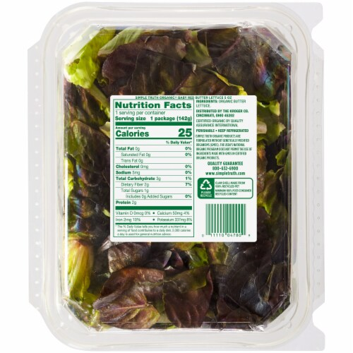 Simple Truth Organic® Baby Red Butter Lettuce Perspective: back