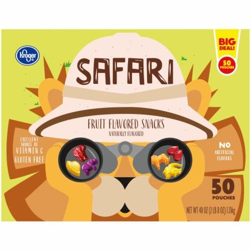Kroger® Safari Fruit Flavored Snacks Perspective: back