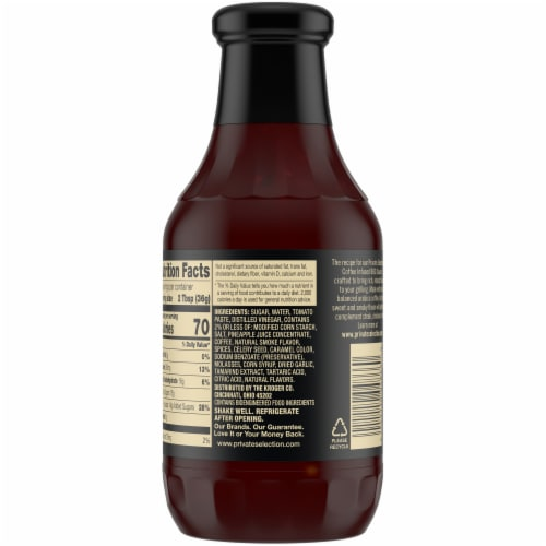 Private Selection® Coffee Infused BBQ Sauce Perspective: back