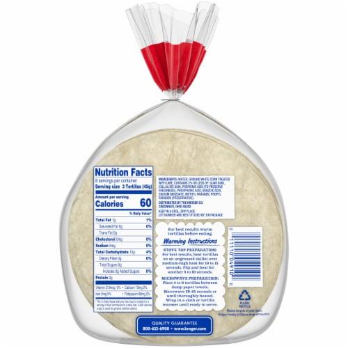 Kroger® Street Taco Size White Corn Tortillas Perspective: back