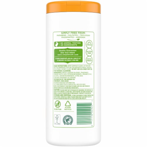 Simple Truth™ Fresh Citrus Multi-Surface Cleaning Wipes Perspective: back