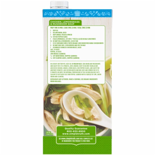 Simple Truth Organic®  Low Sodium Free Range Chicken Broth Perspective: back