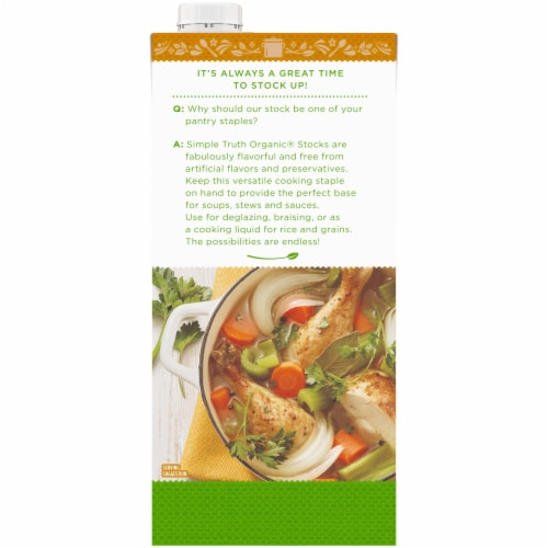 Simple Truth Organic® Free Range Chicken Stock Perspective: back