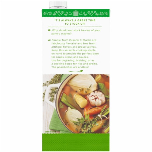 Simple Truth Organic® Fat Free Vegetable Stock Perspective: back