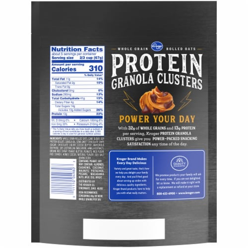 Kroger® Peanut Butter Chocolate Protein Granola Clusters Perspective: back