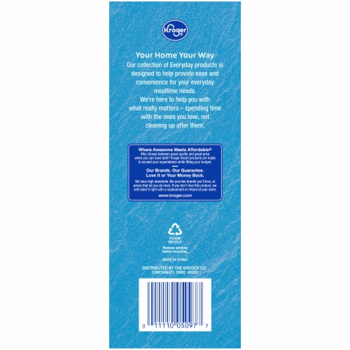 Kroger® Everyday Striped Flexible Straws Perspective: back