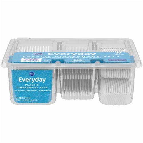 Kroger® Everyday White Plastic Dinnerware Sets Perspective: back
