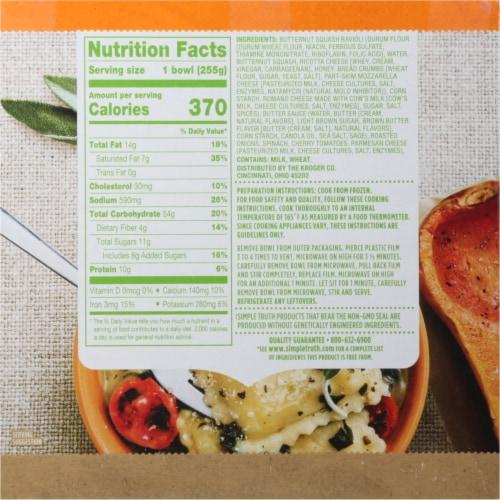 Simple Truth™ Butternut Squash & Sage Ravioli Frozen Meal Perspective: back