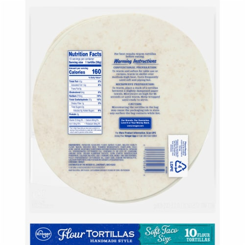 Kroger® Soft Taco Size Flour Tortillas Perspective: back