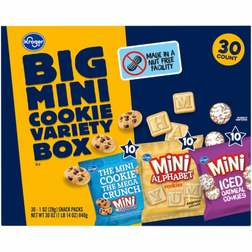 Kroger® Big Mini Cookie Variety Box Perspective: back