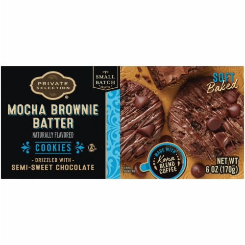 Private Selection® Mocha Brownie Batter Cookies Perspective: back