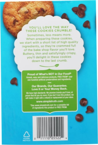 Simple Truth™ Chocolate Chip Thin and Crispy Cookies Perspective: back