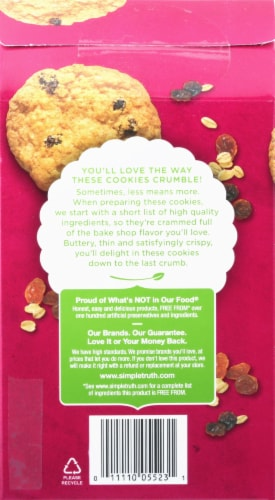 Simple Truth™ Oatmeal Raisin Thin and Crispy Cookies Perspective: back