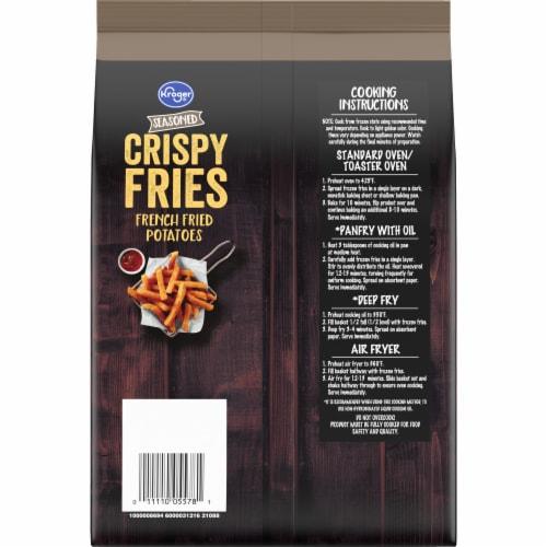 Kroger® Seasoned Crispy Fries Perspective: back