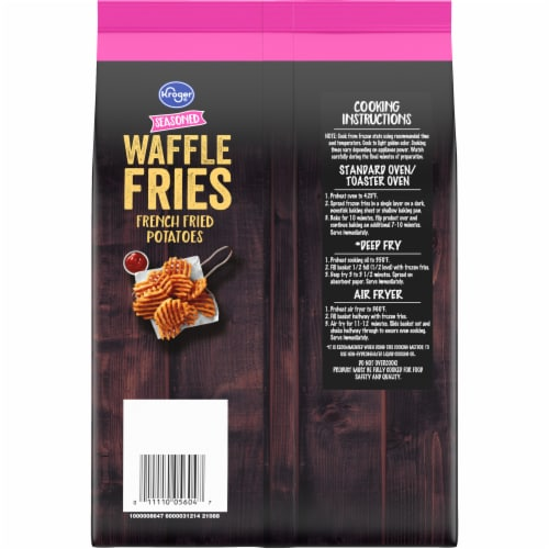 Kroger® Seasoned Waffle Fries Perspective: back