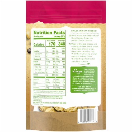 Simple Truth™ Keto Three Seed Cheese Crisps Perspective: back